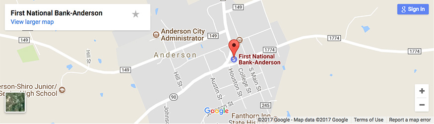 First National Bank of Anderson
